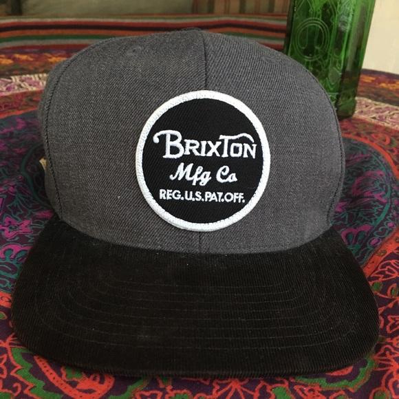 f76688b9252 Brixton SnapBack gray and black